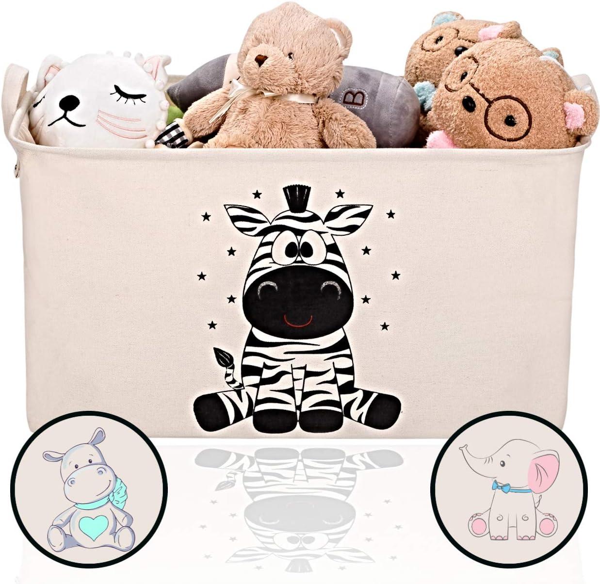 Design Orso Blu Toys Box Rettangolare Giochi Bimbi 5,5l Navaris Cesta Portagiochi Bambini con Ruote Contenitore Porta-Giocattoli in Legno MDF