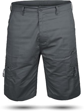 Kurze Bermuda Shorts US Army Ranger Feldhose Arbeitshose verschiedene  Farben S - XXXL Farbe Grau Valley