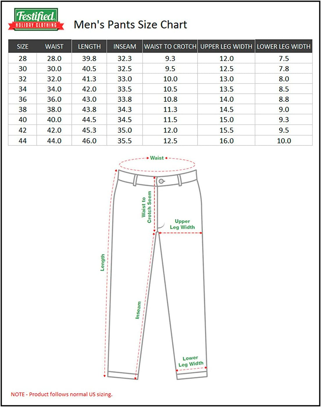 Festified Mens Holiday Santa Equality Christmas Suit Pants in Green