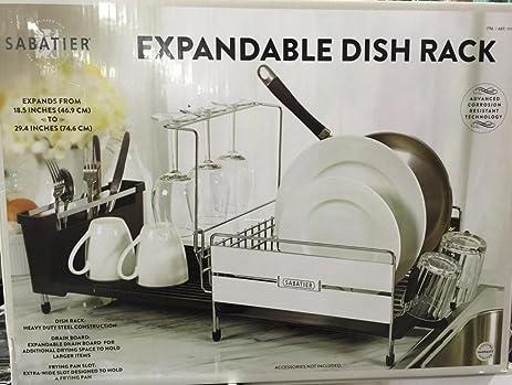 Amazon Sabatier Expandable Dish Drying Rack 40X40Inch Home Simple Sabatier Expandable Dish Rack With Soft Touch Coating