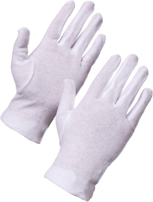 Ardisle 2 pares de guantes blancos 100% algodón para la salud de la belleza Usos Hidratante Forro: Amazon.es: Salud y cuidado personal