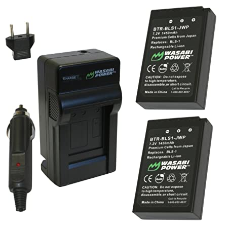Wasabi Power Battery and Charger Kit for Olympus BLS-1 PS-BLS1 E-420 E-450 E-600 E-620 PEN E-P1 E-P2 E-P3 E-PL1 E-PL3 E-PM1 Camera Batteries at amazon