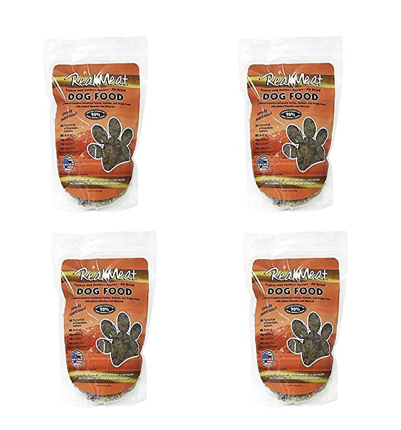 Real Meat Company Air Dried Turkey Venison Dog Food, 2-Lb Bag