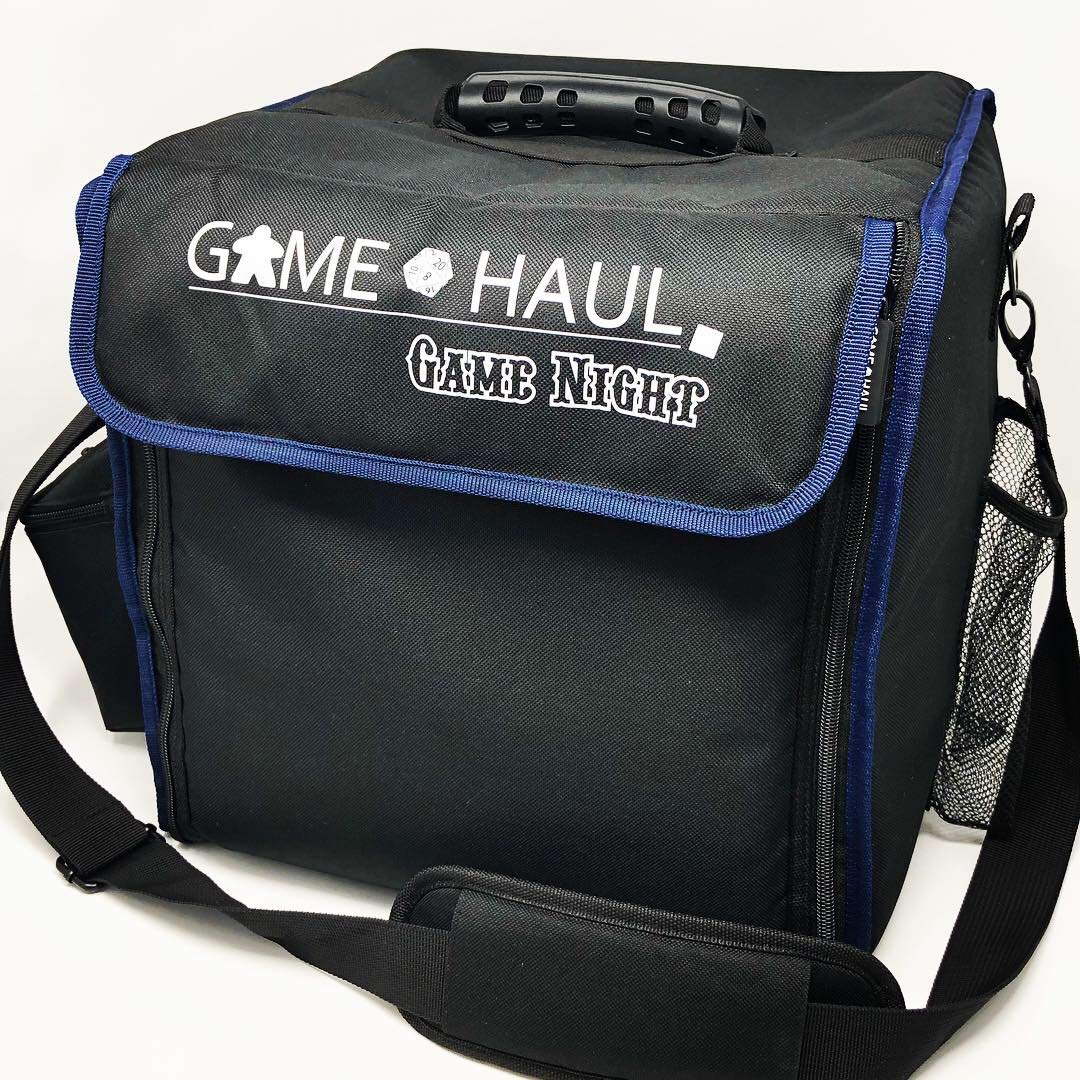 Top Shelf Fun Game Haul: Game Night Padded Board Game Carrying Bag with Handle & Shoulder Strap