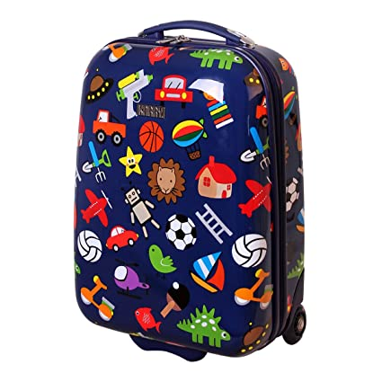 40c2f9ebb94e Children Hard Shell Luggage Suitcase LED Roll Skater for young 819 Boy Toys