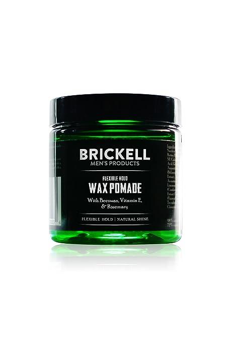 Brickell Mens Products – Pomada para el Pelo Fijación Flexible para Hombres – Natural y Orgánica