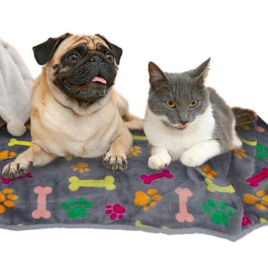 Allisandro® Manta para Perro Negro para Gatos Cachorros de Mejora Doble con Manta de Forro Polar para Mascotas súper Suave y cálida: Amazon.es: Productos ...