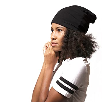 11b95b61659 Image Unavailable. Image not available for. Color  ADAMA Satin Lined Jersey  Beanie ...