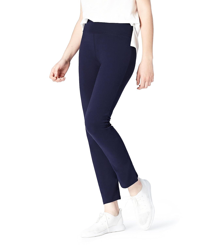 Activewear Pantalones de Chándal Slim para Mujer, Azul (Navy), 36 ...