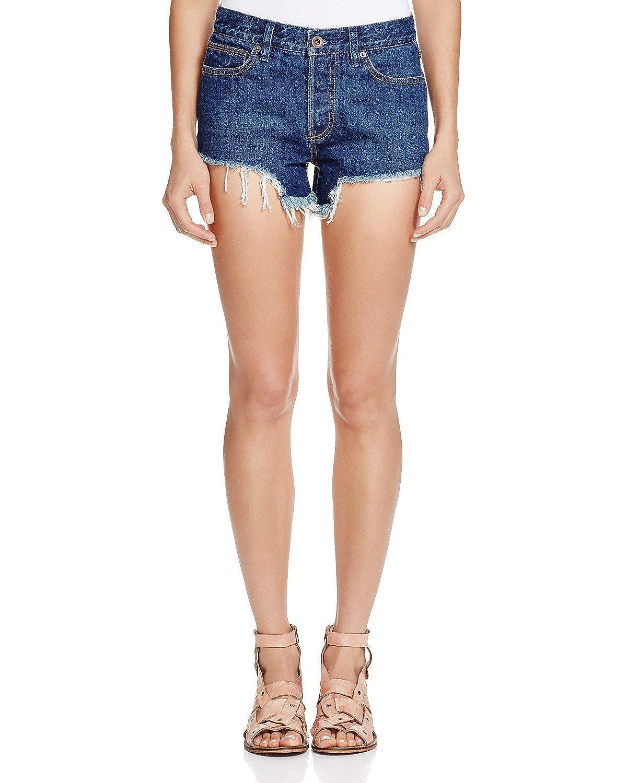 Free People Women's Logan High Rise Cutoff Denim Shorts