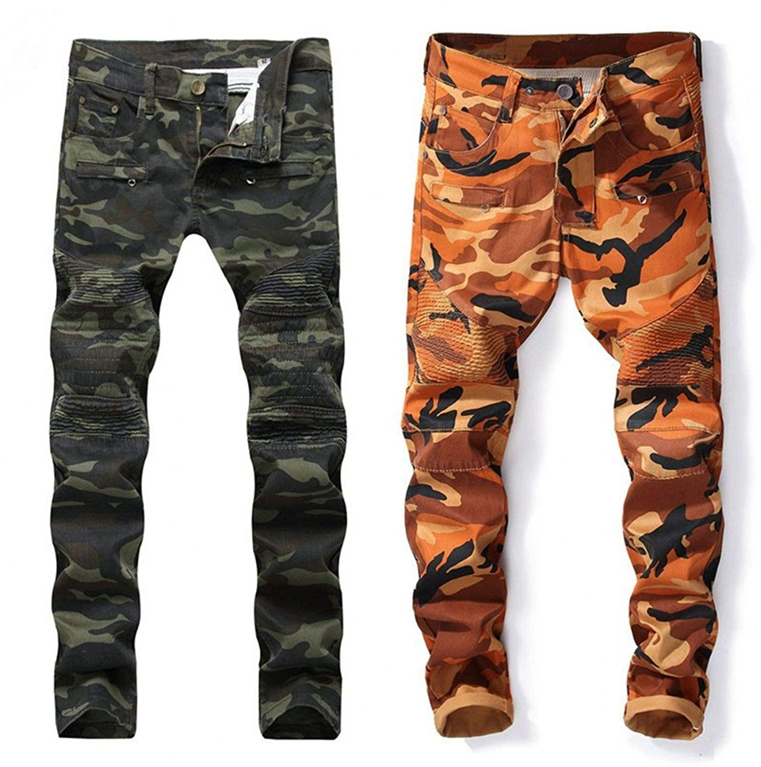 Frozac New Mens Jeans Jeans with Zippers Men Jeans