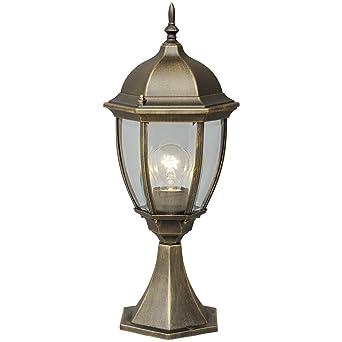 MW-Light 804040301 Lámpara de Mesa y Mesilla de Noche, Estilo Rústico, Tiffany, Estructura Hecha Metal Color Negro Con Pátina Dorada, Plafón de ...