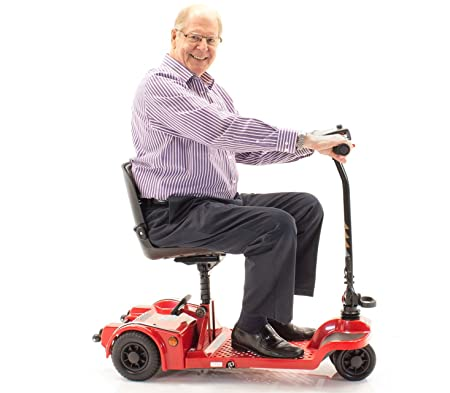 Echo Folding Scooter Shoprider Travel Mobility (RED)
