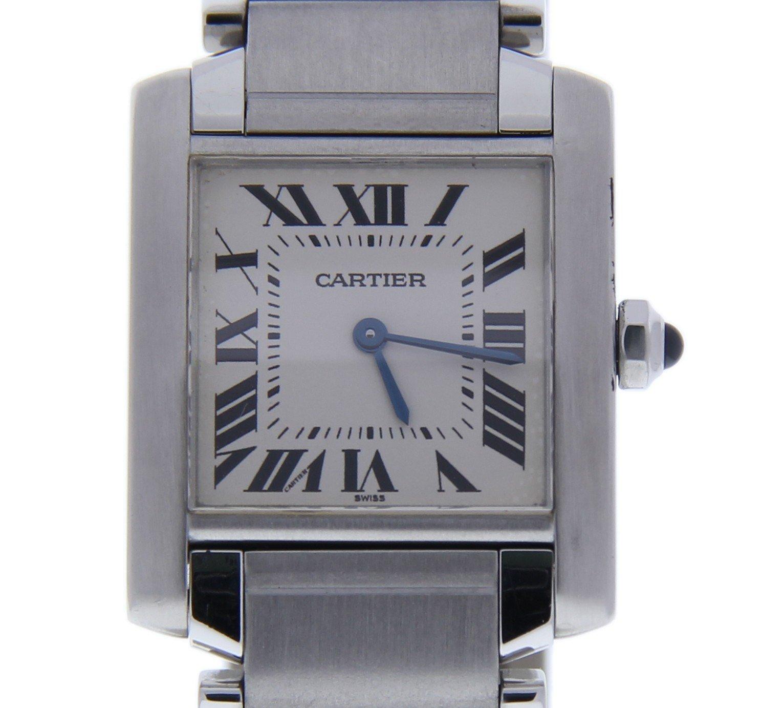 Cartier Tank Francaise quartz womens Watch 2301 (Certified Pre-owned)