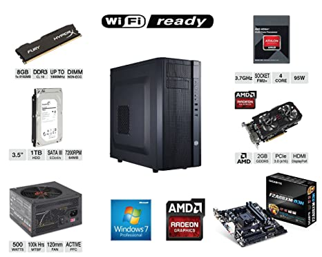 Amazon.com: XDS Electronics Custom Gaming PC computadora AMD ...