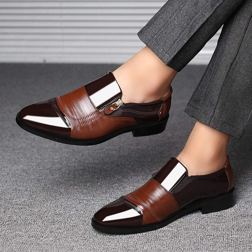 Ansenesna Herren Schuhe Business Braun Schwarz Leder Elegant Männer Mit Absatz Anzug Schuhe Für Hochzeit Business
