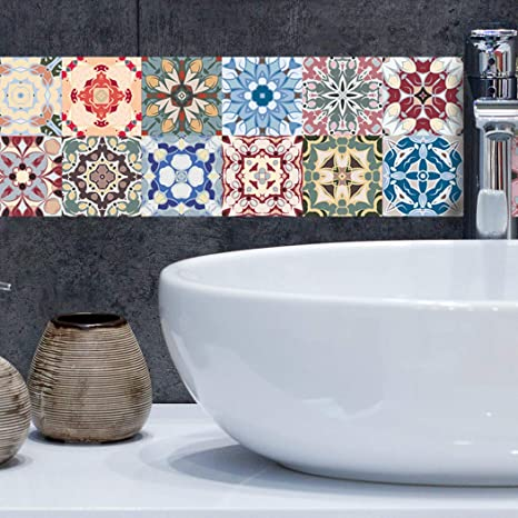 "4/""x4/"" Peel and Stick Tile Decals Kitchen Backsplash Bathroom Self Adhesive DIY"