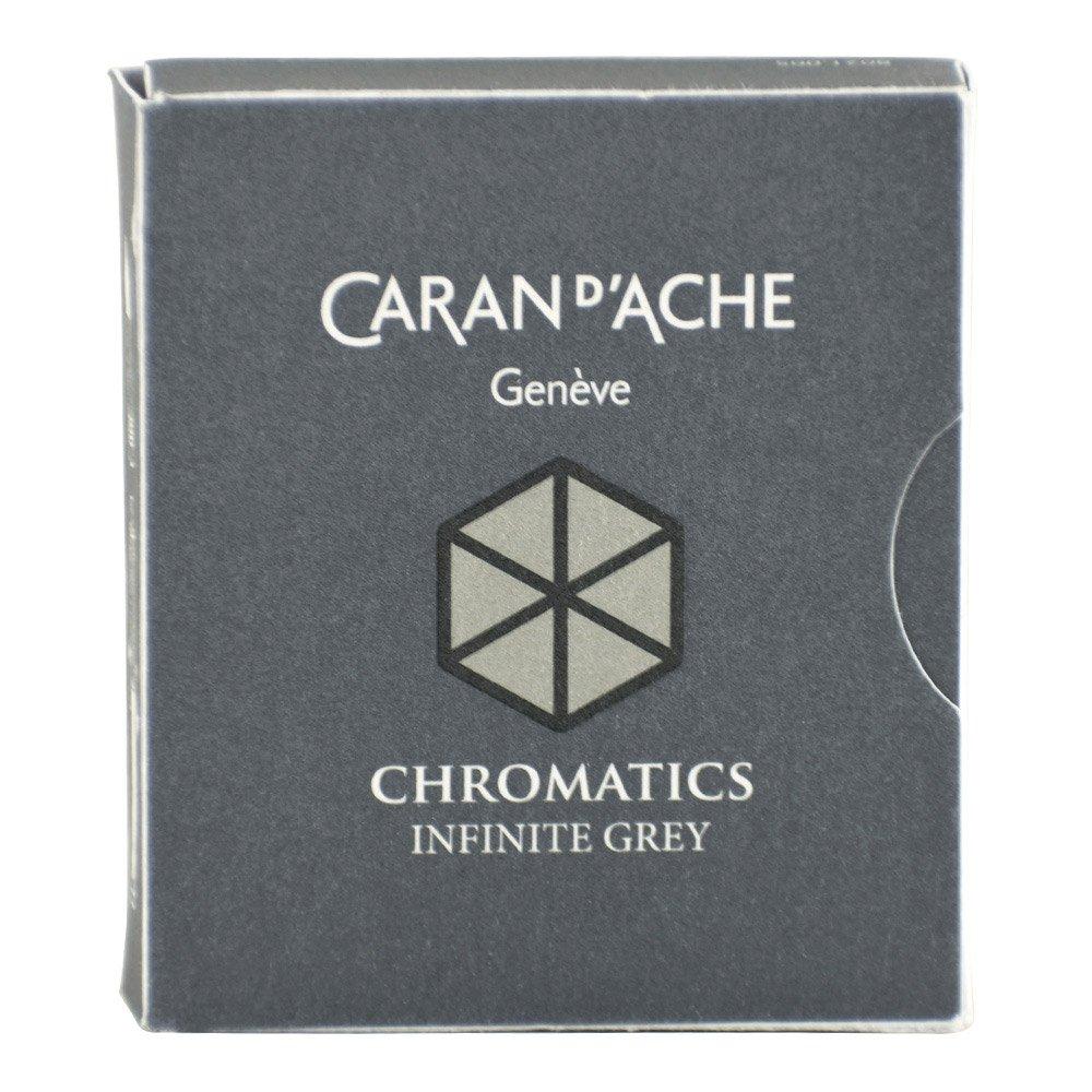 CARAN DACHE Cartucho de tinta cromática gris infinito paqu
