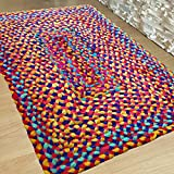 Hand Woven Multi Chindi Rug for Kitchen-Livingroom-Bedroom – 2 X 3 feet Review