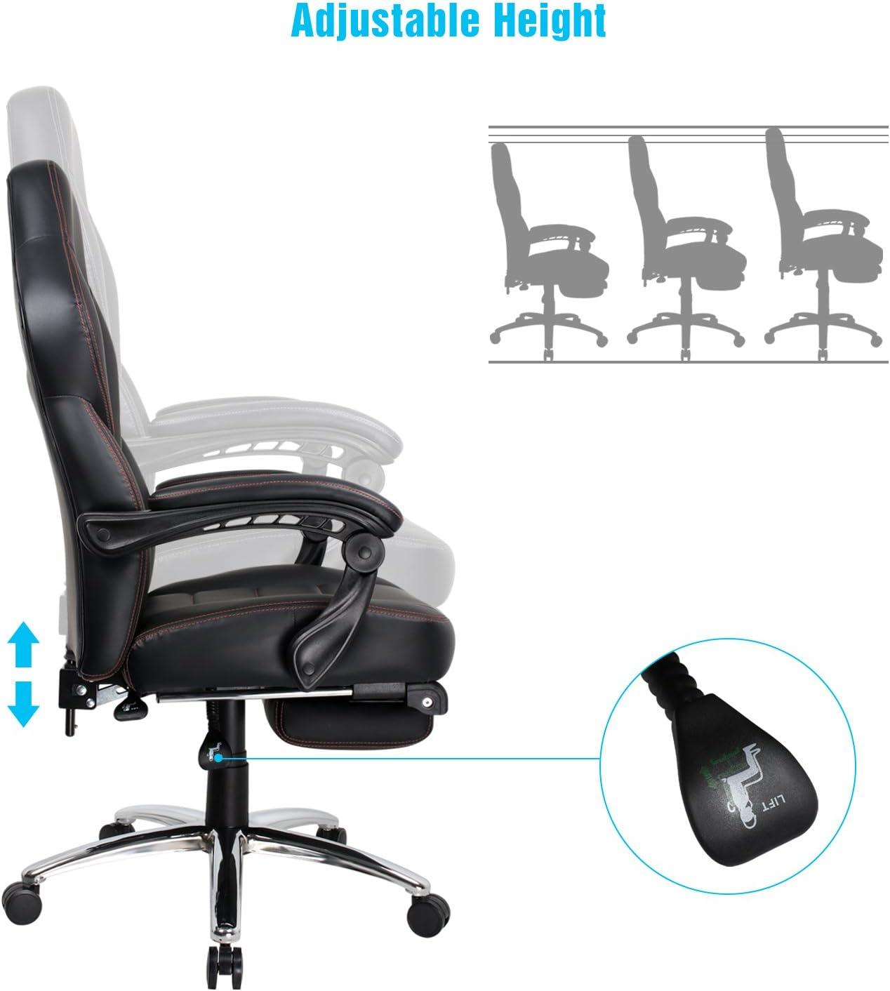 Sedia ergonomica con Il Cuscino Lombare e poggiapiedi Sedia da Gioco di Pu Sedia con Alto Schienale Blu Sedia di Computer IntimaTe WM Heart Sedia Gaming
