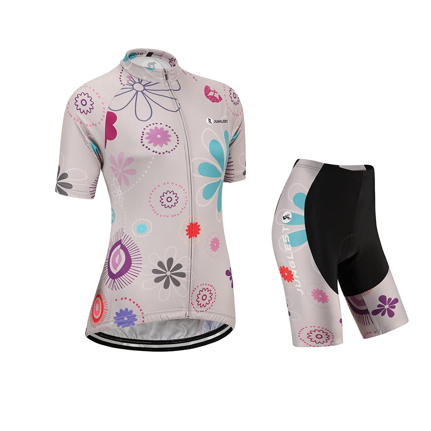Cycling jersey Set, Maillot de Cyclisme Women Femme Short sleeve Manches Courtes(S~5XL,option:bib Cuissard,3D pad Coussin) N222 jngles
