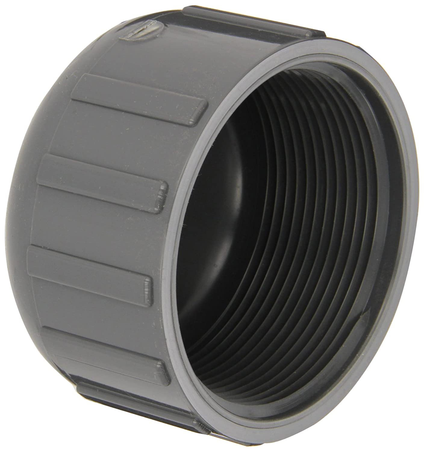 3//4 Slip Socket Gray Cap GF Piping Systems PVC Pipe Fitting Schedule 80