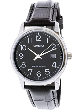 086f47c69a9 Amazon.com  Casio  MTP-V002L-1B Men s Standard Analog Leather Band ...