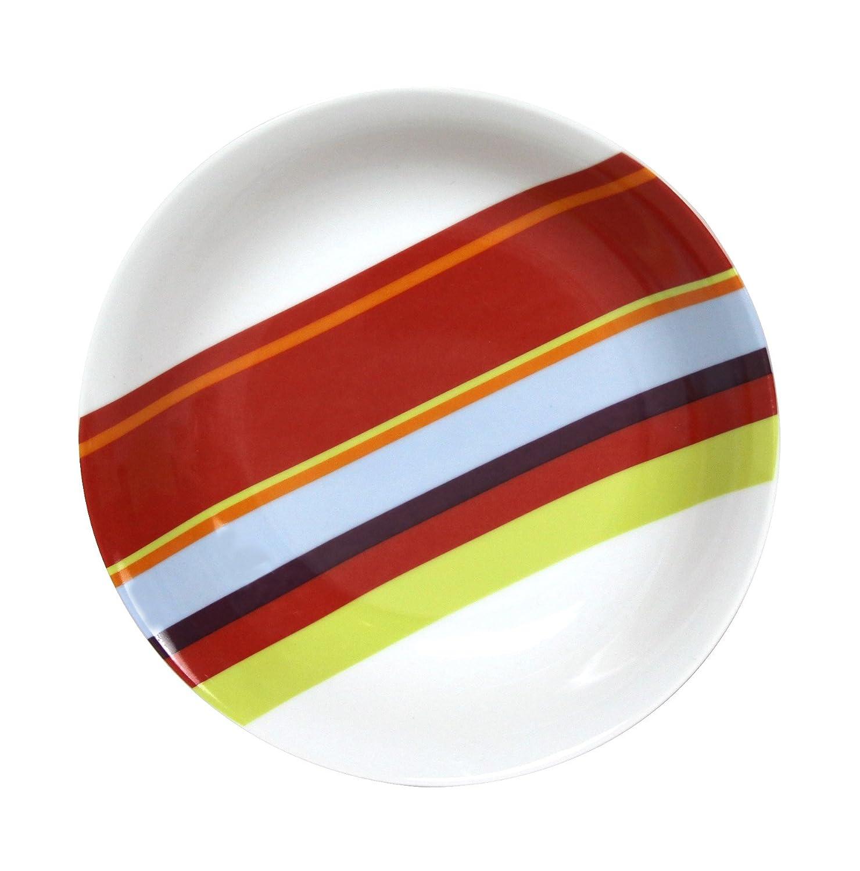 Marca 5084298 Set Di 6 Piatti Con Bordi Arrotondati Per Tagliare Porcellana Multi-Costola Sun 18,5 X 23 X 4 Cm