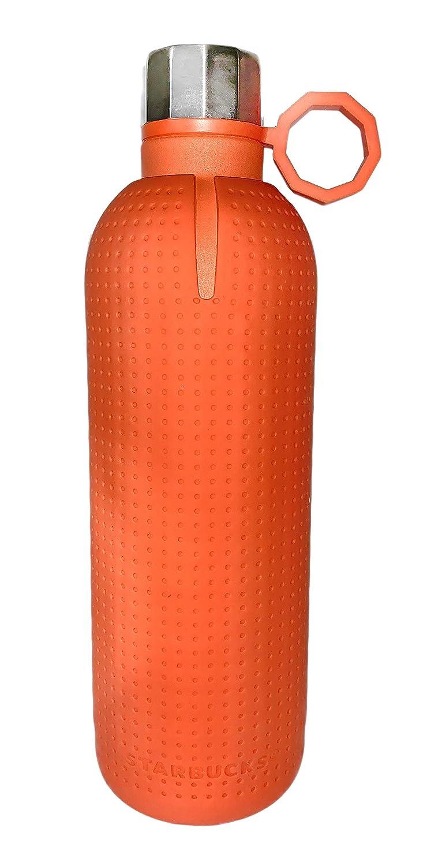 スターバックス オレンジラバースリーブ ステンレススチールウォーターボトル   B07KV88YJS
