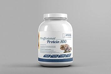 German Sport Nutrition, Proteína 90 Profesional, 3000 g Chocolate Galletas + Suero de leche