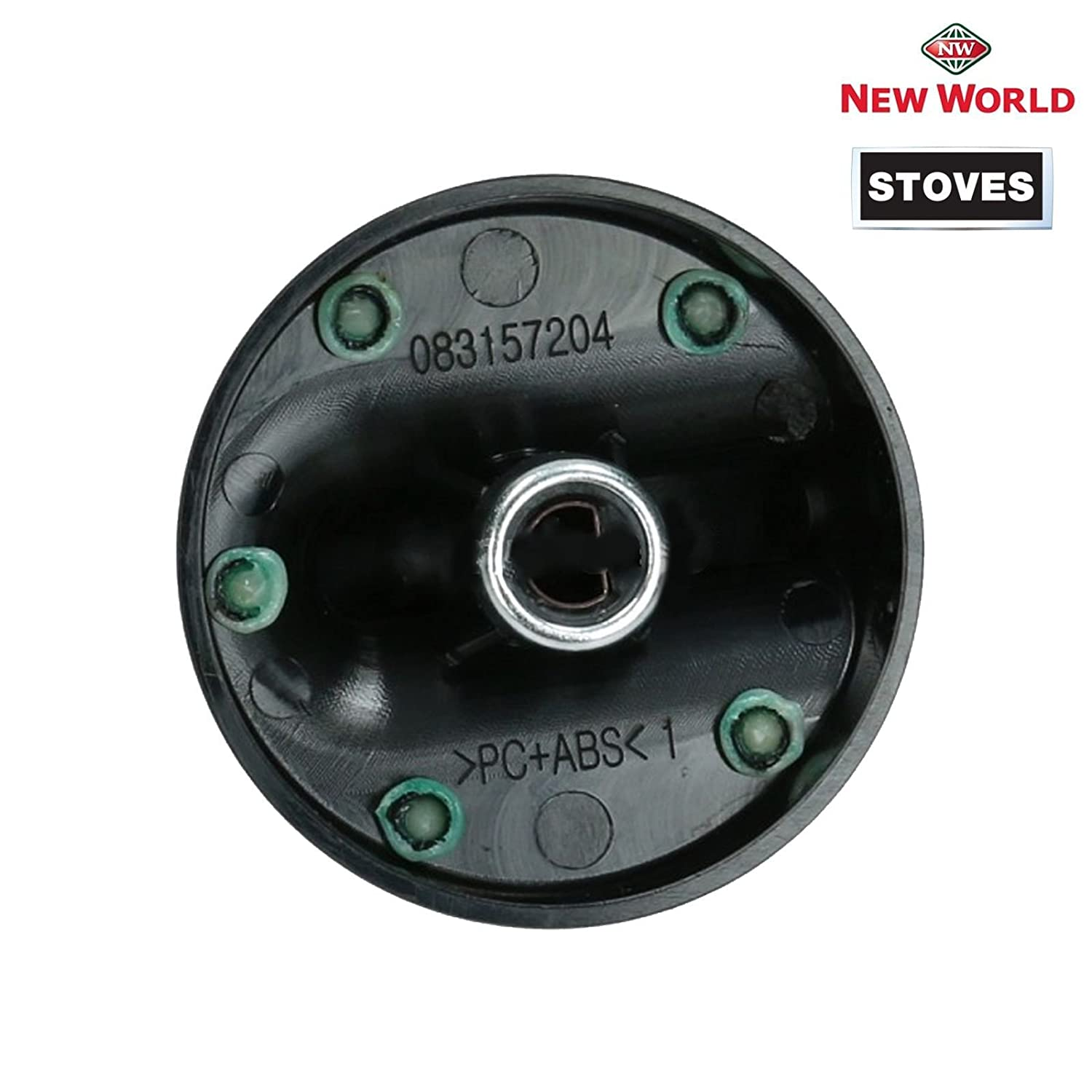 STOVES NEW WORLD Oven Cooker Temperature Knob Switch Silver Black 083157008