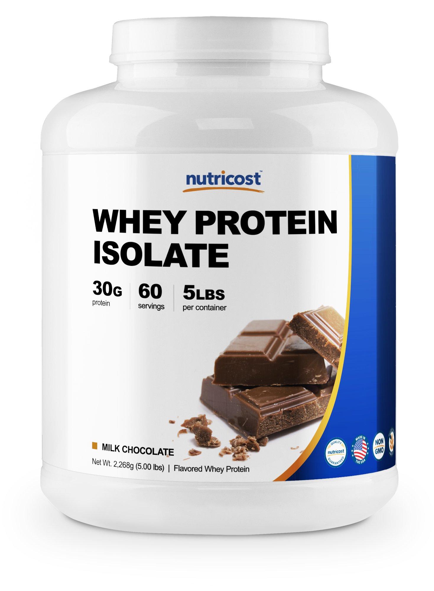 Nutricost Whey Protein Isolate Powder (Milk Chocolate) 5LBS