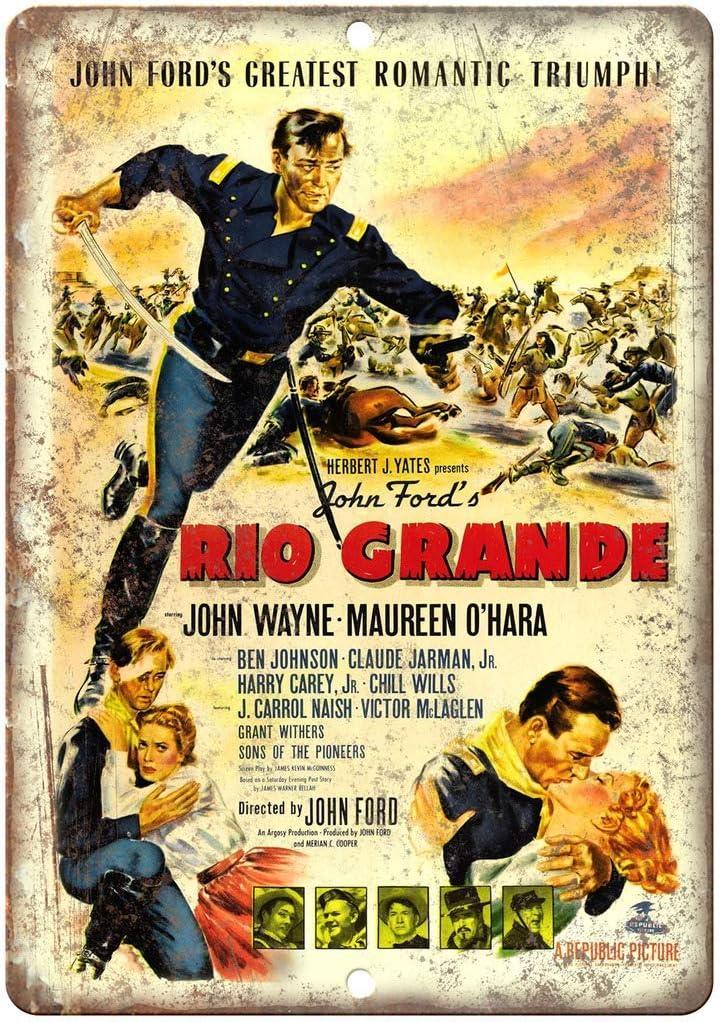 John Ford Rio Grande John Wayne Vintage Placa Vintage Metal Cartel ...