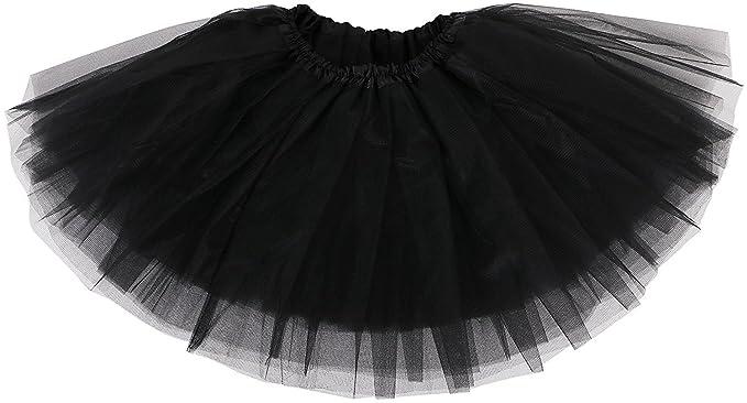 b003365cf93 TRADERPLUS Women s Vintage Petticoat Tutu Ballet Bubble Skirt Party  Occasion Accessory (Black)