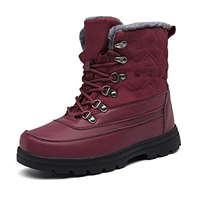 Womens Mens Winter Mid-Calf Snow Boot Fur Warm Waterproof Slip On Outdoor Athletic Casual Walking | Snow Boots