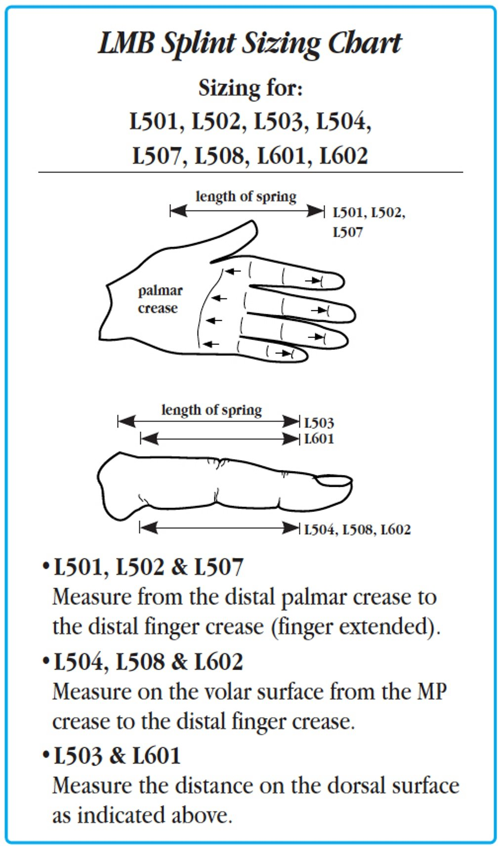 LMB Spring Finger Extension Assist, Size: A