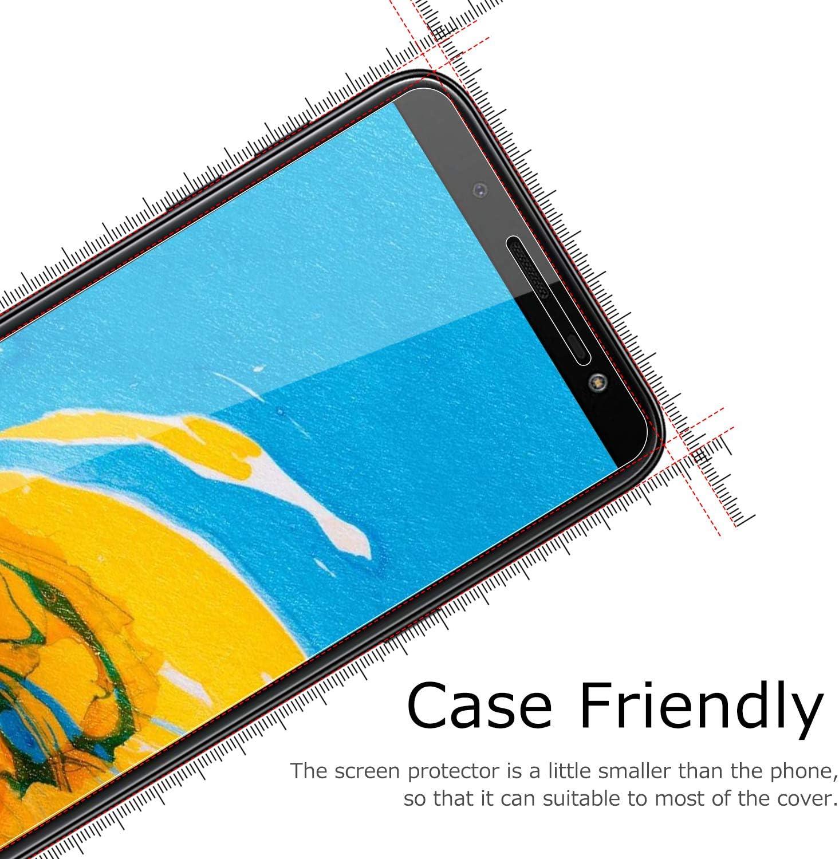 FCLTech Verre tremp/é Protecteur d/écran pour Samsung Galaxy J6 2018 2 Pi/èces Film Protection /écran en Protecteur Vitre Couverture Compl/ète,Duret/é 9H Anti-Rayures,