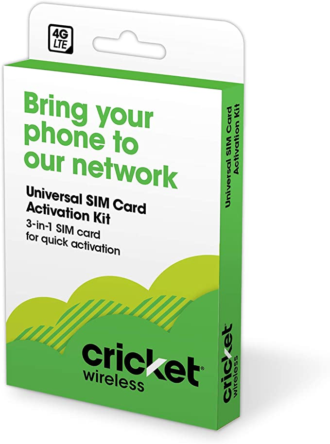 Amazon.com: Cricket Wireless 3-in-1 SIM Kit - Bring Your Own Phone - 2.0