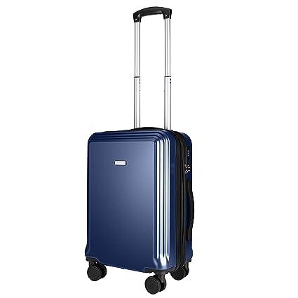 Amasava Maletas de Viaje Rigidas, Equipaje de Mano 55 * 32.5 * 22 CM 40L con 15% de Espacio de Expansión PC + ABS Equipaje para Viajes en Avión con ...