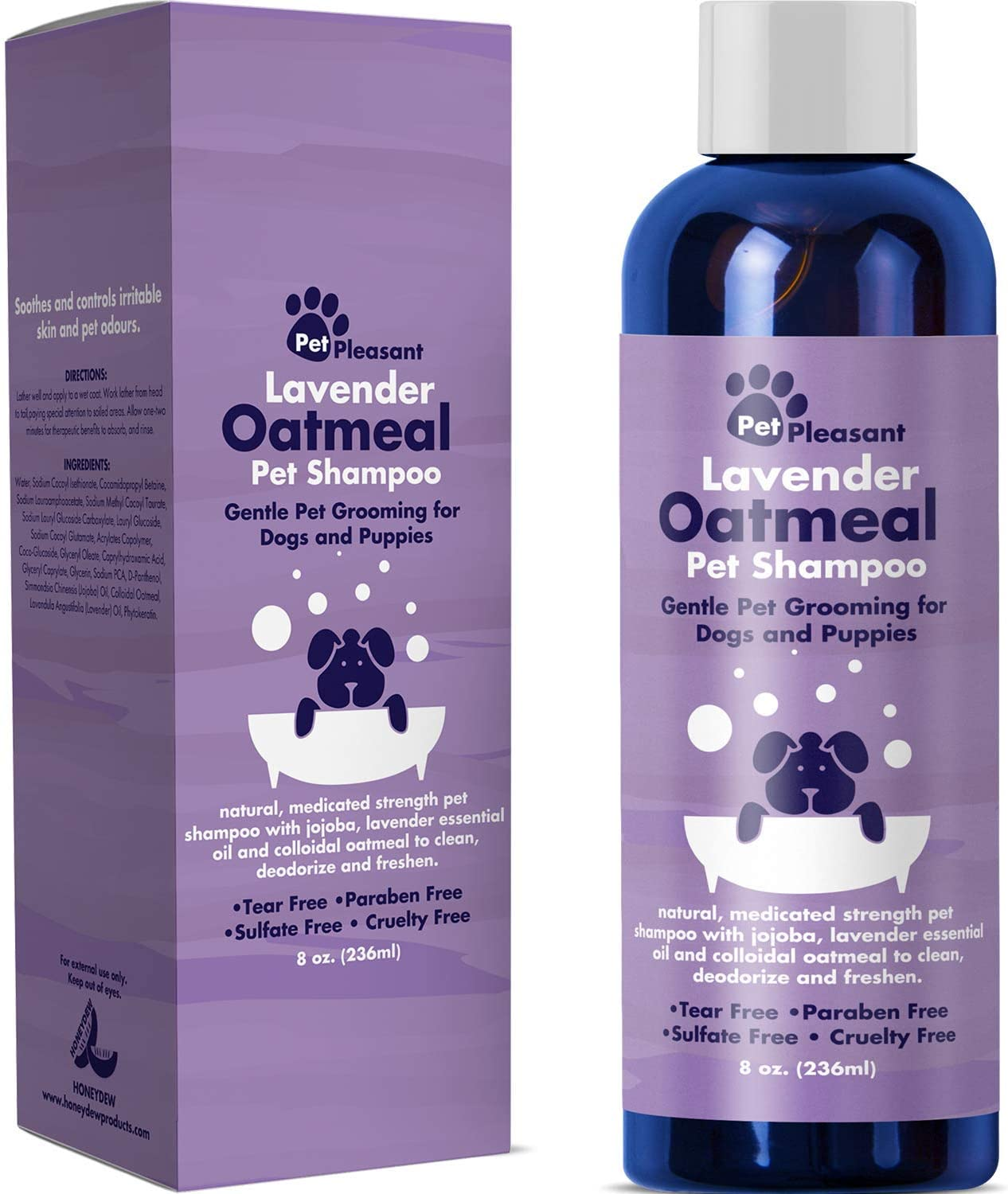 7. HONEYDEW Natural Dog Shampoo with Colloidal Oatmeal