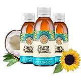 3 Pk GuruNanda Oil Pulling, Natural Mouthwash, Ayurvedic Blend of Coconut, Sesame, Sunflower, Peppermint Oils. A Refreshing O
