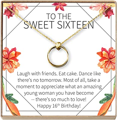 Amazon.com: Collar de regalo de 16 años: 16 cumpleaños, 16 ...