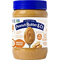 Peanut Butter & Co. 顺滑花生酱 ,不含麸质,素食产品,每罐约454克(6罐装)