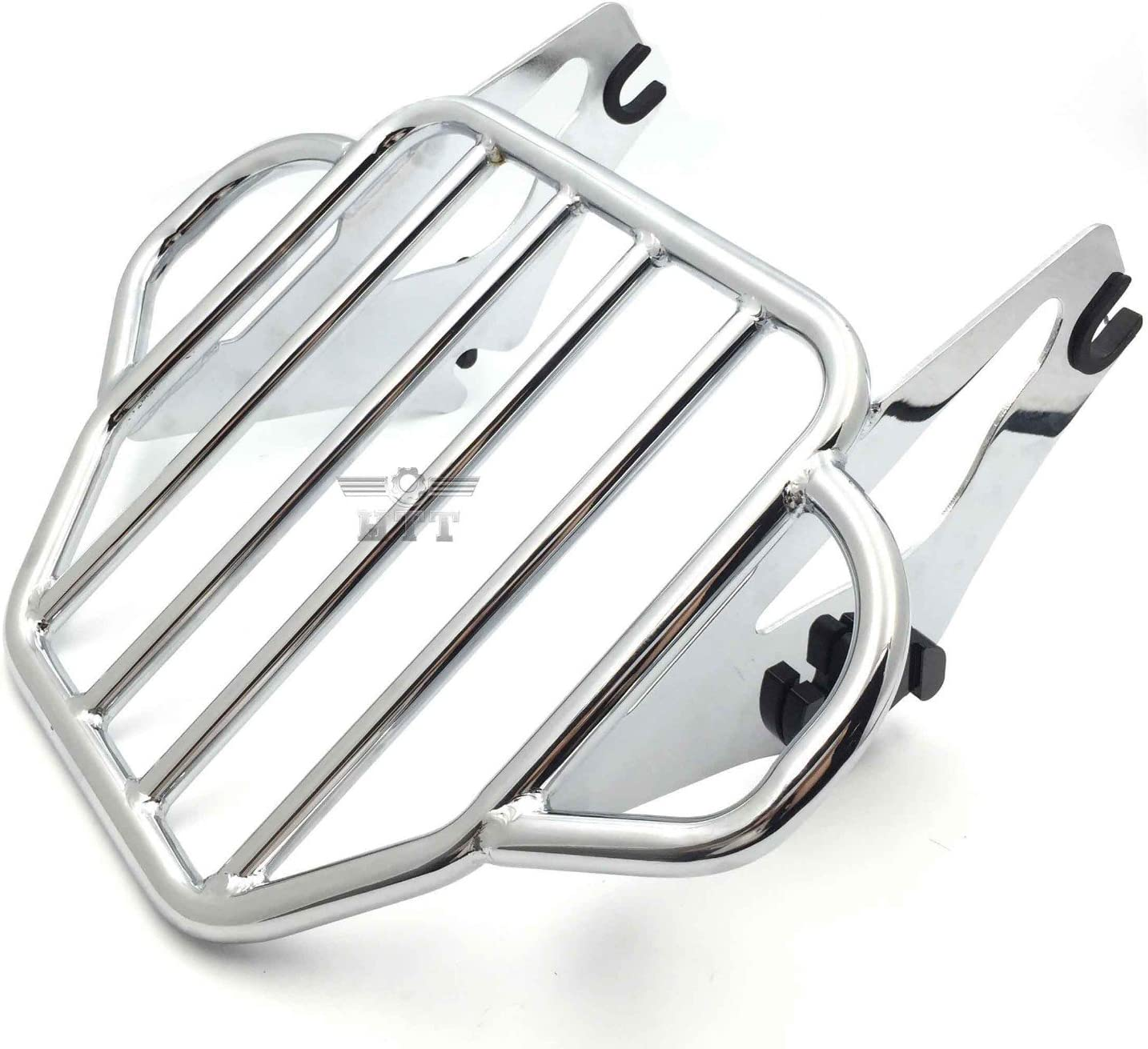 i.e Road King FLHR// Road Glide FLTRX HTT Motorcycle Chrome H-D Detachables Two-Up Luggage Rack For 09-later Touring models