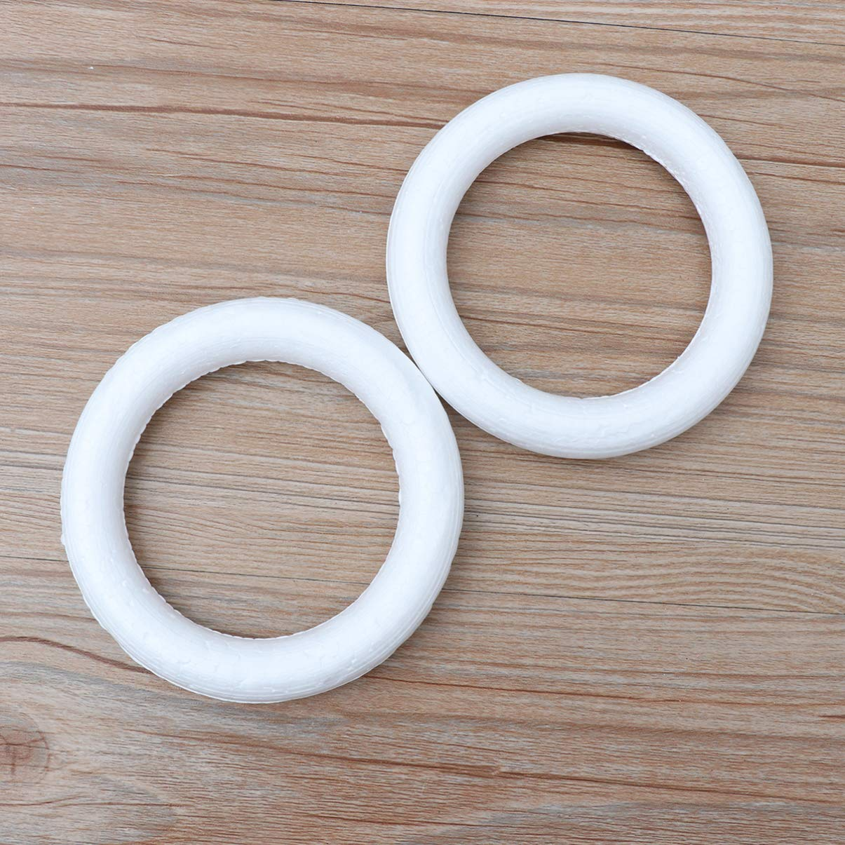 5x1.5cm Healifty Craft Foam Wreath Polystyrene Foam Ring Kids Art Painting Material for DIY Arts and Crafts Floral Projects Christmas Wedding Decorations 50pcs