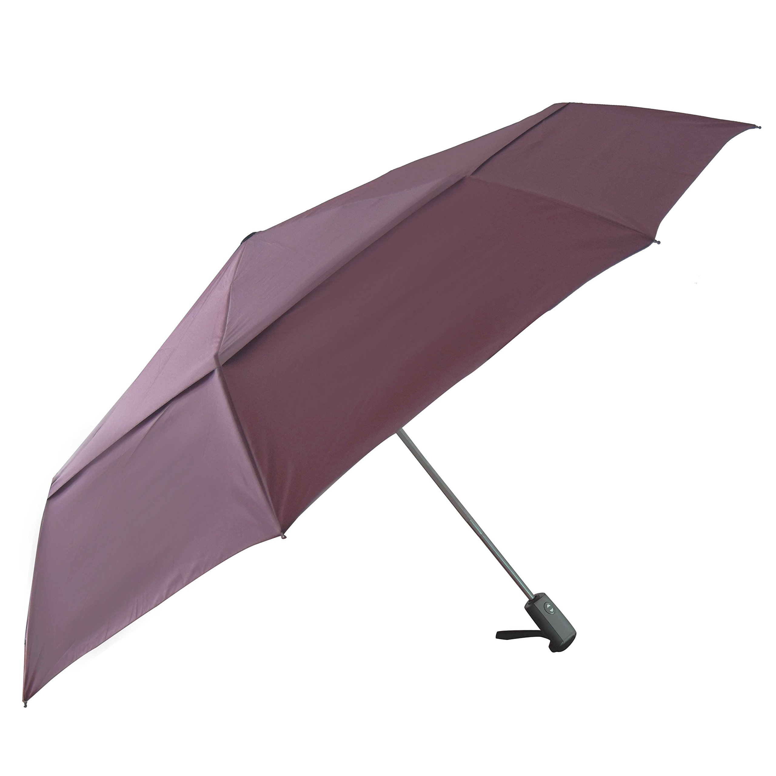 Automatic Open Golf Umbrella Compact & Lightweight Rain/Wind Resistant Double Canopy Vented Golf-sized Large Travel Umbrella with Small Folding Length