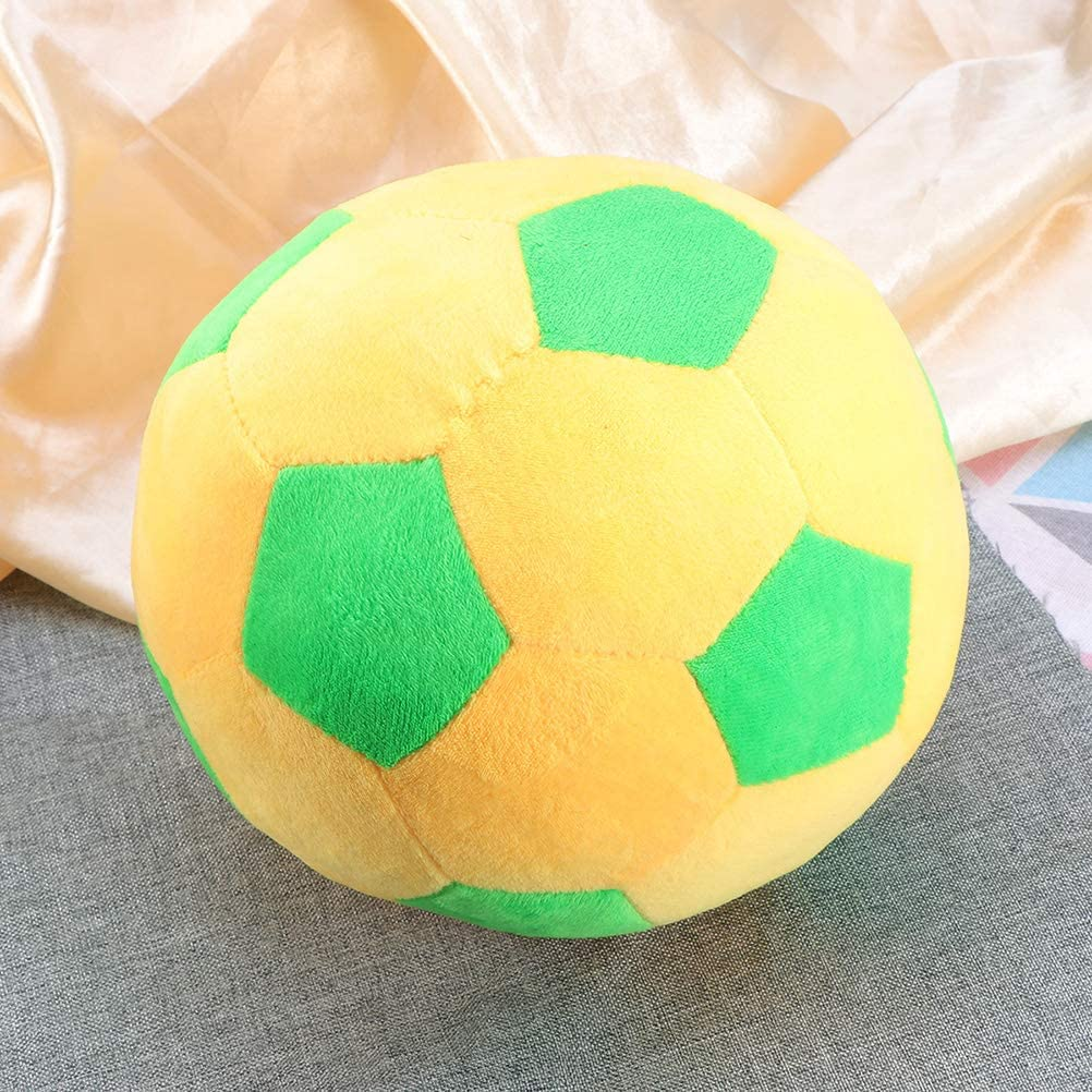 LIOOBO Stoffball Babyball Fu/ßball Spielzeug Kinder Waschbar Gelb 13 cm
