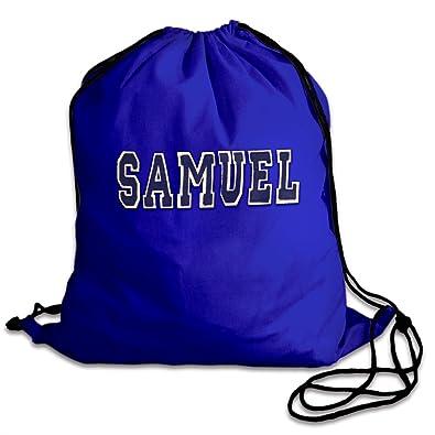 b20d6877bf31 Personalised PE Bags  drawstring Bag Kit Bag  Blue cotton pump bag ...