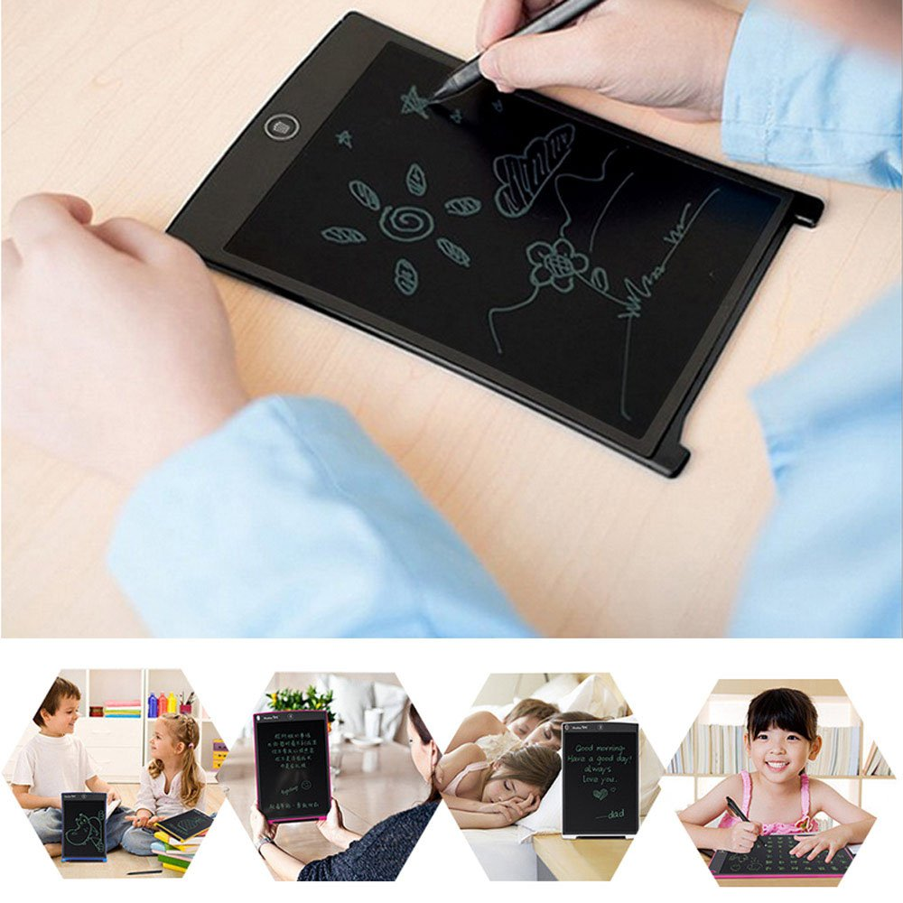 inDigi 8.5-inch Electronic LCD Writing Tablet Doodle Pad Kids One Click to Erase Writing Sketch Board Learning Toys Drawing Writing Board Learning Toy Perfect for Kids by inDigi (Image #3)