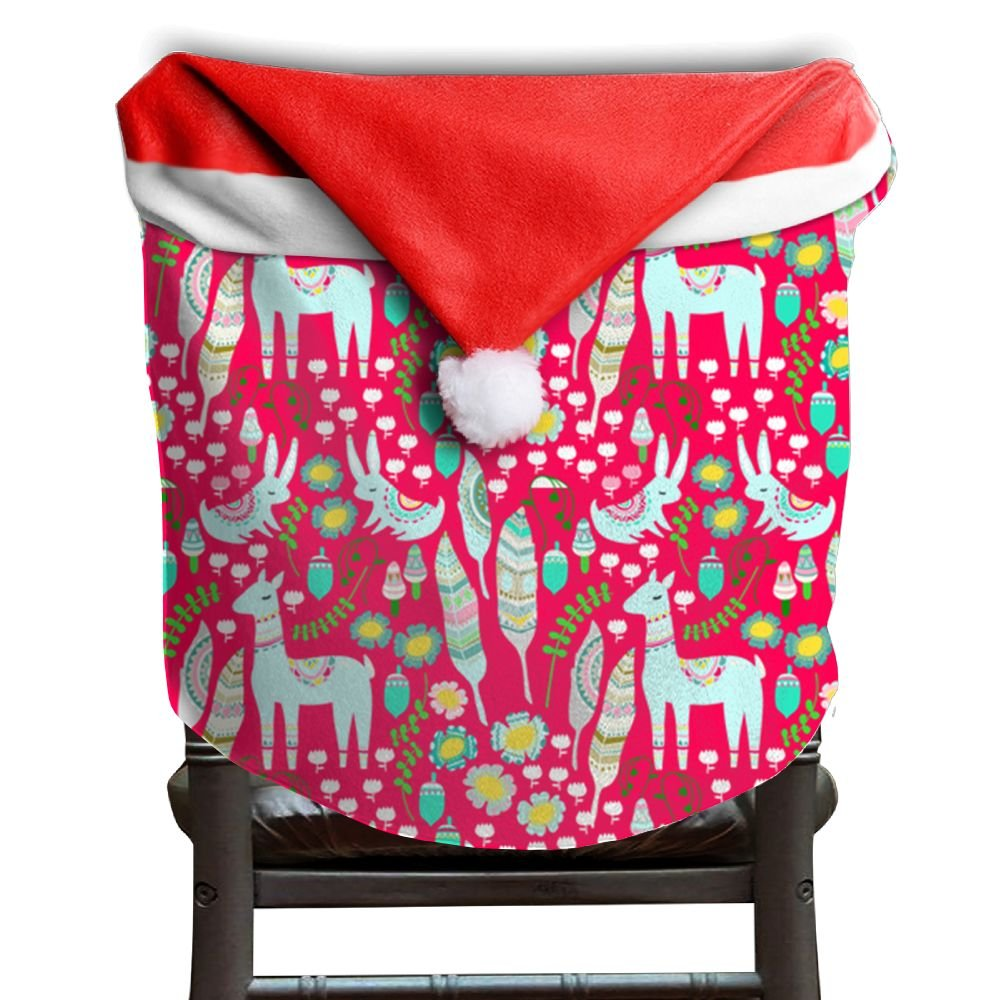 Llama Animal Christmas Chair Covers Special DURABLE Chair Covers For Christmas For Family Armless Chair Slipcover Holiday Festive